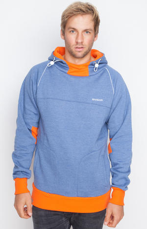 Hooded STORM SteelBlue/Orange
